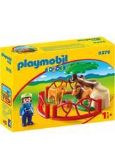 Playmobil 1,2,3 Löwengehege 9378