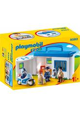 Playmobil 1,2,3 Commissariat de Police Mallette 9382