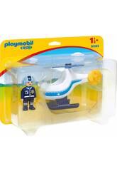Playmobil 1,2,3 Polizeihubschrauber 9383