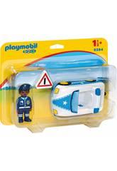 Playmobil 1.2.3 Auto della Polizia 1.2.3 9384