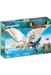 Playmobil Comme Dresser A votre Dragon Furie Diurna et Bébé Dragon avec enfants 70038