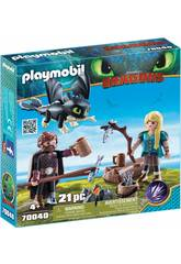 Playmobil Dragons Hiccup e Astrid con Baby Dragon 70040