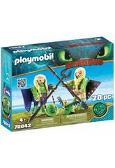 Playmobil Testabruta e Testaditufo con tuta da volo 70042