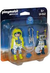 Playmobil Duo Pack Astronaut und Roboter 9492