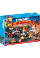 Playmobil Calendario dell'Avvento 'Vigili del Fuoco in azione' 9486