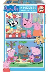 Puzzle 2X25 Peppa Pig Educa 18078