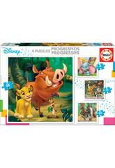 Puzzle Progressivos Disney Animals Educa 18104