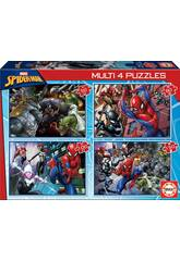 Multi 4 Puzzles Spiderman 50-80-100-150 Educa 18102