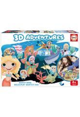 3D Aventures Sirenas Monta y Juega Educa 18230