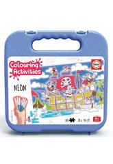 Mallette Colouring Activities Puzzle 100 Pirates Educa 18070