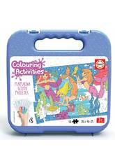 Colouring Activities Puzzle 50 Sirènes Educa 18067