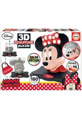Puzzle Color 3D Escultura Minnie Mouse Educa 17930