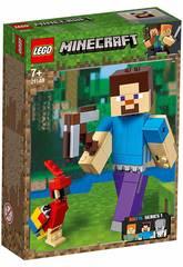 Lego Minecraft BigFig Series 1 Steve con Loro 21148