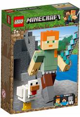 Lego Minecraft BigFig Series 1 Alex com Galinha 21149