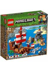 Lego Minecraft A Aventura do Barco Pirata 21152