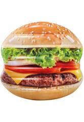 Materassino Isola Hamburger stampa realistica 145x142 cm. Intex 58780