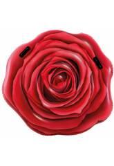 Matelas Gonflable Design Rose Rouge Réaliste 137 x 132 cm. Intex 58783