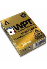Baraja Poker WPT 100% Plástico Gold Edition Fournier 1033745