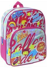 Sac a Dos Je suis Luna Argantée Brillante Toybags T323-034