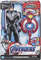 Avengers Figura Capitão América 30 cm. com Canhão Power FX Hasbro E3301