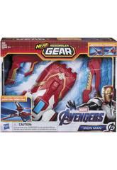Avengers Nerf Assembler Gear Iron Man Monta e Lança Hasbro E3354