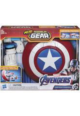 Avengers Nerf Assembler Gear Captain America ziehe an und werfe Hasbro E3347