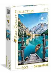 Puzzle 500 Braies Lake High Quality Collection Clementoni 35039