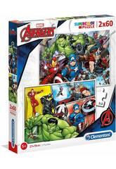 Puzzle 2x60 Avengers Clementoni 21605