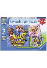 Puzzle Paw Patrol 3x49 Pièces Ravensburger 8036