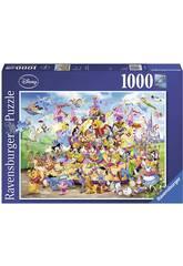 Puzzle Disney Carnevale 1.000 Pezzi Ravensburger 19383