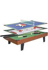 Table multijeux 3 EN 1 de 92x51x22 cm