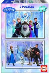 Puzzle 2 X 100 Disney Renna Frozen