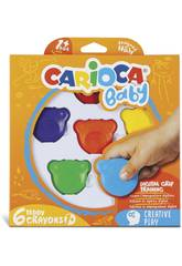 Crayons Teddy 6 Couleurs Carioca 42956