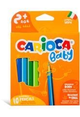 Babyfarbstift mit 10 verschiedenen Farben von Carioca 42819