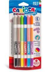 Bicolor Filzstifte 12 Farben von Carioca 42265