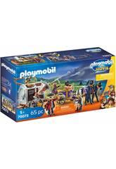 Playmobil The Movie Charle con Carro Prisión 70073