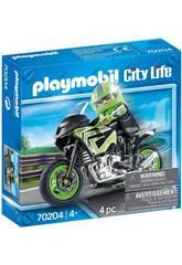 Playmobil Veicoli Città Moto Playmovil 70204