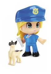 Pinypon Action Figurines Urgence avec un Chien Famosa 700015151