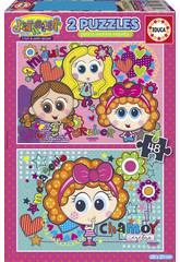 Puzzle 2x48 Distroller Chamoy e Amiguis Educa 18319
