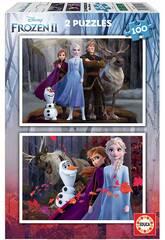 Puzzle 2x100 Frozen 2 Educa 18111