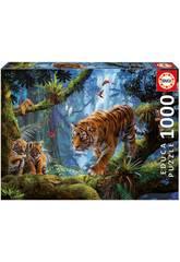 Puzzle 1.000 Tigres Na Árvore Educa 17662