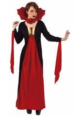 Disfraz Mujer Vampiresa Gótica Roja Rubies S8365