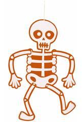 Móvil Esqueleto Fieltro Naranja 51 cm. Rubies S4401