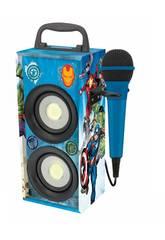 Vengadores Mini Torre de Sonido Bluetooth con Microfono Lexibook BTP155AVZ