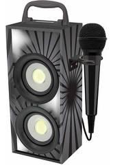 Torre Miniatura de Som Bluetooth com Microfone Preto Lexibook BTP155BKZ