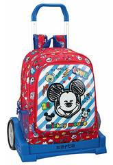 Zaino con Carrello Evolution Mickey Mouse Maker Safta 611914860