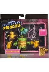 Pokémon Detective Pikachu Multipack 6 Figuras Bizak 6322 7602