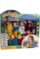 Set 11 Marionetas Dedo Blancanieves y los 7 Enanitos