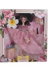 Poupée Collection 29 cm. Rose Impression avec des Accessoires