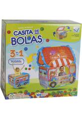 Casa Tela Autobus con 100 Palline 6 cm.